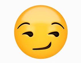 Emoji Smirking Face 3D