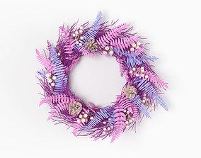 Colored faux wreath 3D model