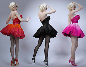 3D Girl skirt stockings