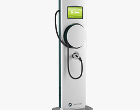 3D Electric Vehicle Charging Station 2
