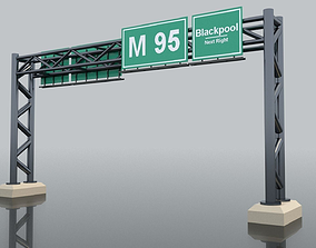 drive Highway Sign 3D