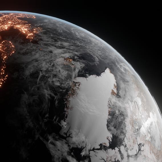 Planet Earth Render