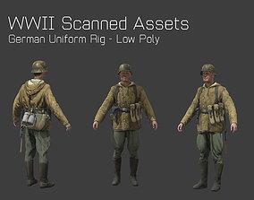 German Camo Soldier Rig - WW2 Scanned Asset Pack 3D model