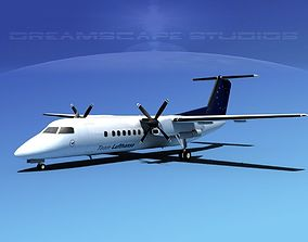 DeHavilland DHC-8-Q300 Team Lufthansa 3D model