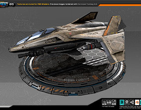 3D asset RTS Light fighter - 05