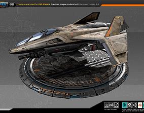 3D asset RTS Light fighter - 05