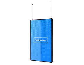 3D model Digital Panel Vertical 49 Inch