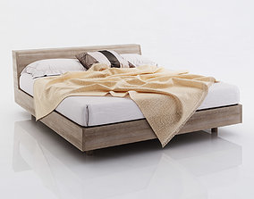 3D model Brown bed linen