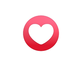 Animated Facebook Love Reaction Button 3D model