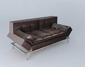 Sofa brown DENVER Maisons du monde 3D model