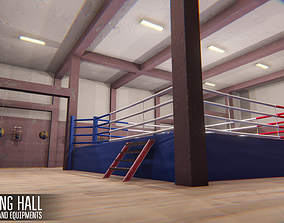 3D model Boxing hall - interior and equipments