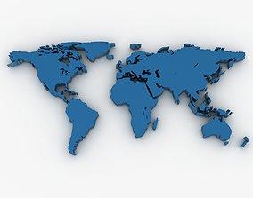 World Map 3D asset