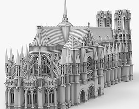 Notre Dame Cathedral church 3D print model