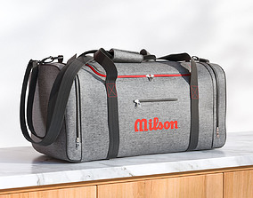 Gray travel bag 3D