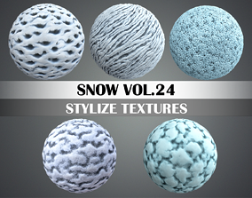 3D asset Stylized Snow Vol 24 - Hand Painted Texture Pack
