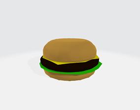 Low-Poly Hamburger 3D model