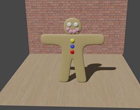 Simple Gingerbread 3D asset VR / AR ready