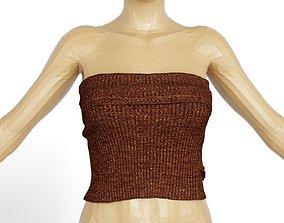 3D asset Top Gold Bronze Women Clothing