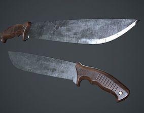3D model Machete Knife PBR Game Ready