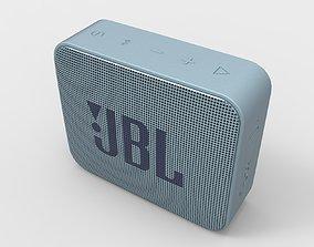 JBL GO2 Waterproof speaker Light Blue 3D model