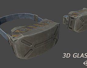 3D Glasses sci-fi low-poly