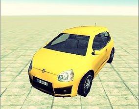 3D model lowpoly car