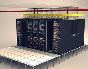 3D model Data Communication Server Room