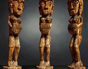 3D model Tall African Wooden statue