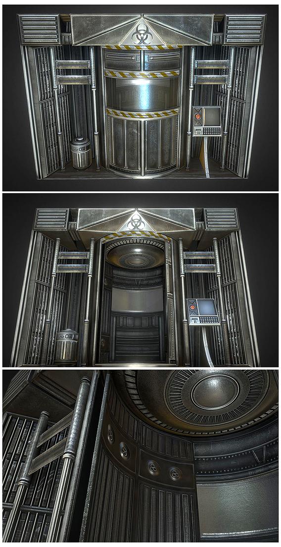 Futuristic Decontamination Door