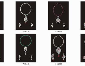 68 Necklace Earrings Set mgx bulk 3D print model