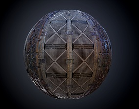 3D Sci-Fi Military Seamless PBR Texture 19