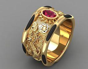3D print model 571 Dragon Gold Ring