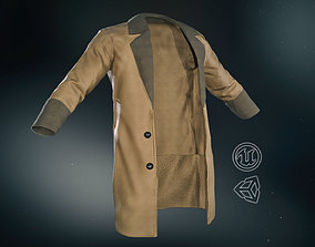 3D model low-poly Brown Coat