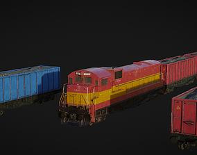 Cargo Train 3D asset