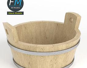3D model Round kneading trough