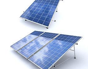 low-poly 3D Solar Panel Model