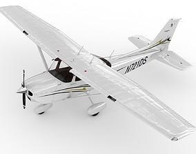 Cessna 172 Skyhawk 3D rigged