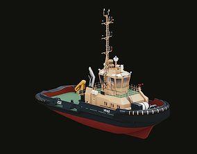 3D model Tugboat Ural