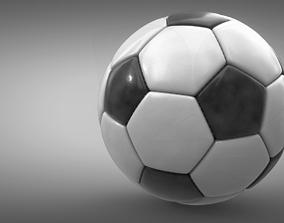 Football 3D model PBR goal