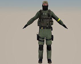 FBI cs go 3D rigged