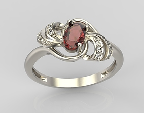 3D printable model Design ring with ruby and diamonds 4