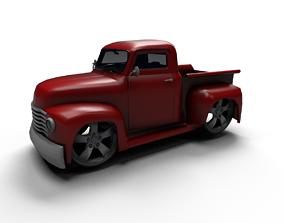 3D model 50-ford-pickup cartoon truck