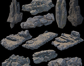 3D Stone modular elements for fantasy environment with PBR