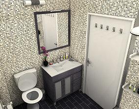 Bathroom 3D model toothbrushes