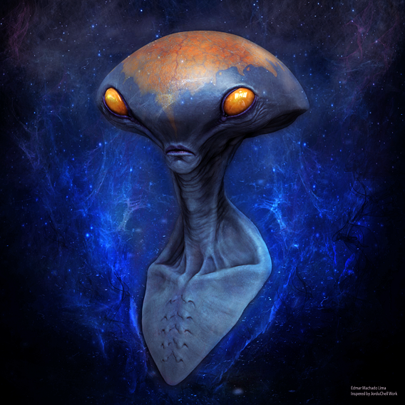 Alien inspired by JorduChell work
