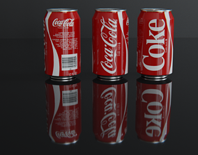Coca Cola CAN 3D asset game-ready