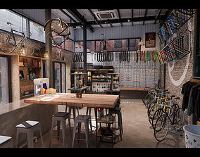 Bike Shop Environment Game Ready Unreal Engine 3D asset