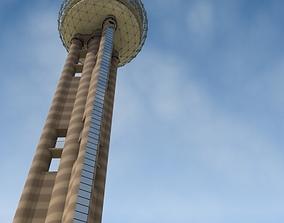 3D Reunion Tower Dallas Texas