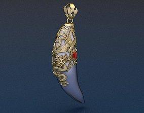fang-pendant Dragon Fang 3D print model