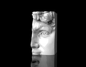 David Face candle mold 3D print model
